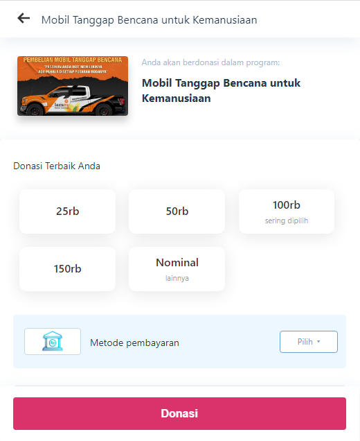 Jasa Website Donasi